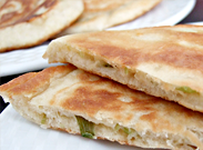 Savory hoddeok (Korean pancakes)