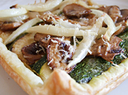 Puff Pastry topped with veggies