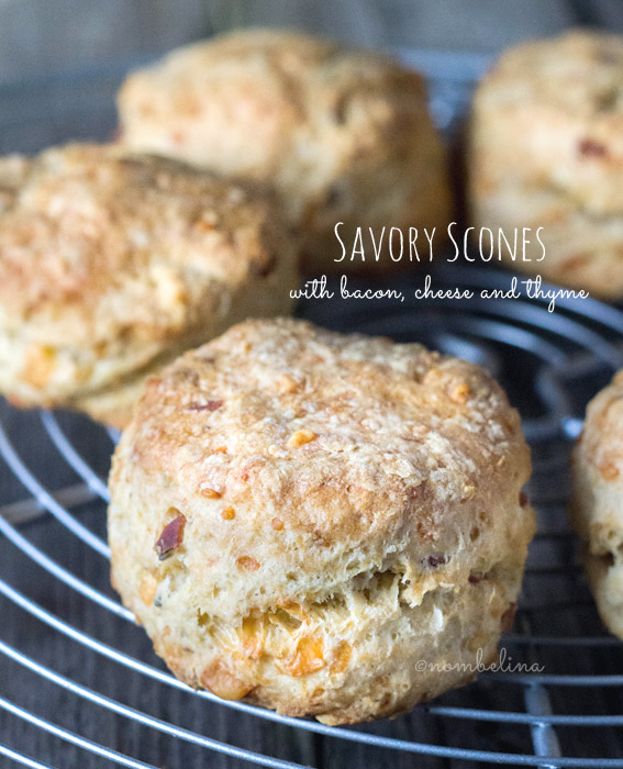 Savory Scones with Bacon, Cheese and Thyme