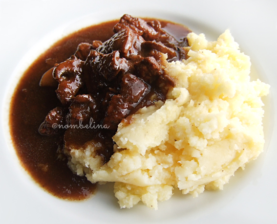 Beer stew and mashed potatoes