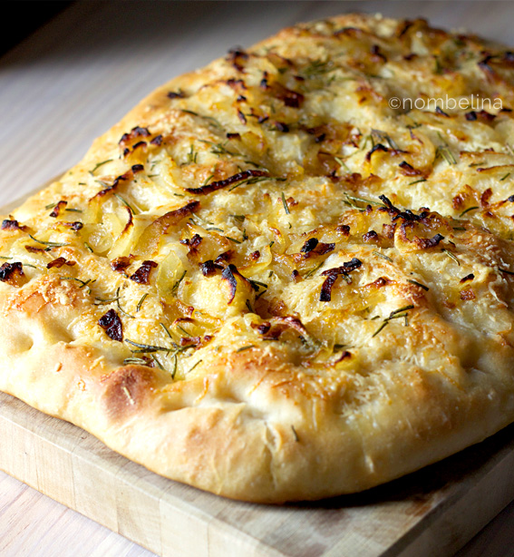 Onion, Rosemary and Cheese Focaccia