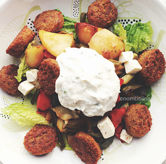 Snapshots - grilled vegetables with falafel