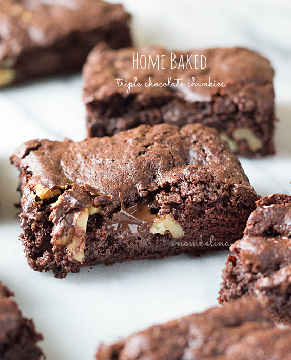 Home Baked - triple chocolate chunkies