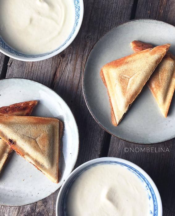 Champignon ui kaas tosti